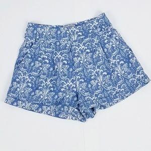 Flying tomato blue and white design shorts!
